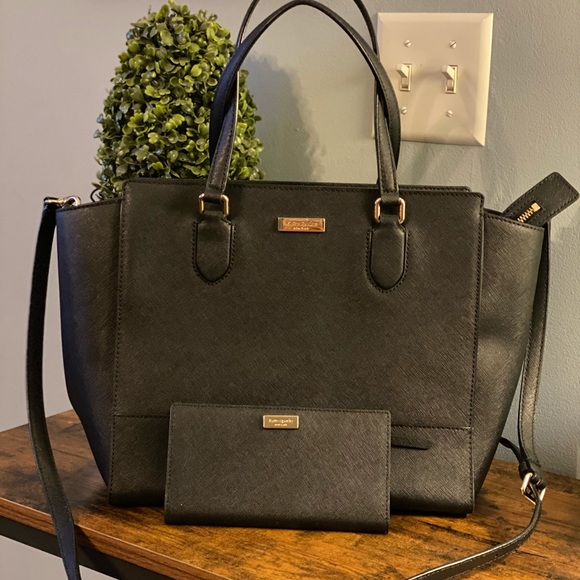 kate spade Handbags - BLACK KATE SPADE ♠️ PURSE AND MATCHING WALLET SET